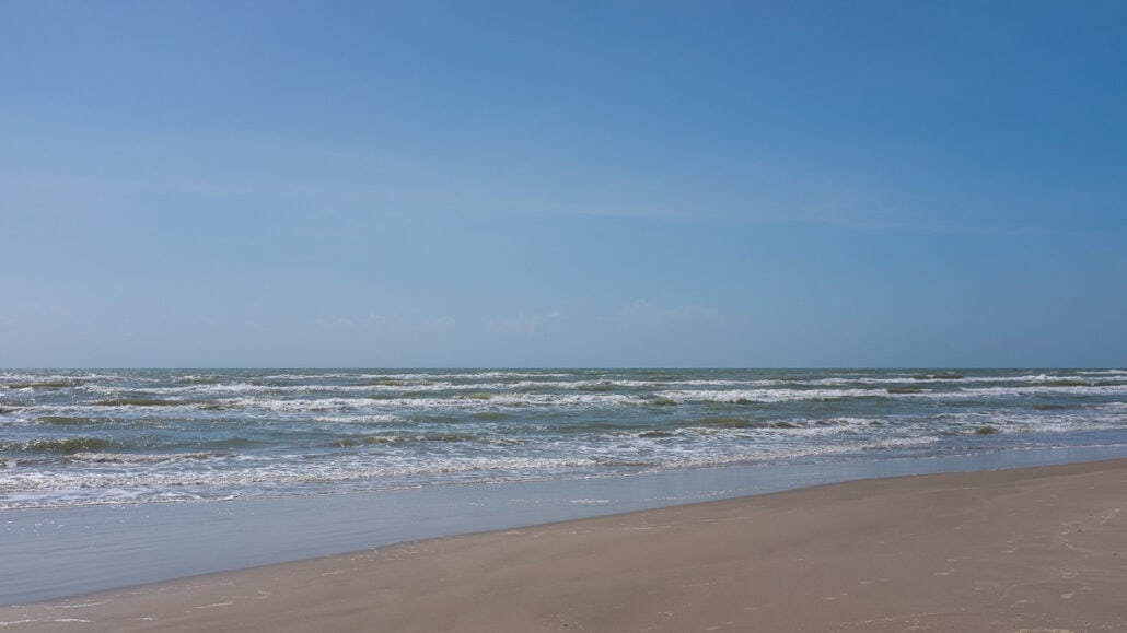 Having a Nature Bath, The Sky Never Ends #0135. The Texas sky is endless on the coast of Gulf of Mexico. Photograph by Jeff Kauffman